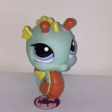 Littlest PetShop HIPPOCAMPE VERT ORANGE 1566 M049 SEAHORSE SEA HORSE Pet Shop