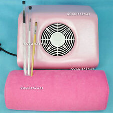 BF Nail Art Dust Suction Collector + 2 Replacement Bags + Handrest Pillow 72P+H