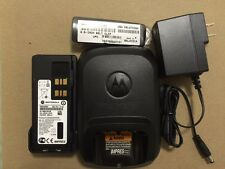 MOTOROLA OEM XPR 7550/7350 SINGLE UNIT CHARGER WITH BATTERY AND BELT CLIP