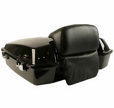 NEW RAZOR TOUR PAK TRUNK PACK WITH LOW PROFILE CHOPPED BACKREST SLIM BAGGER
