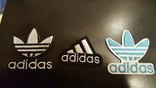 """(3) ADIDAS PATCH  Lot Logo PATCHES embroidered iron on  patch 2"""" x 2"""" ,1.5X 1.75"""