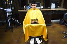 Gold PC Haircut Cape Barber Gown Stylist Viewing Window Hairdresser Haircutting