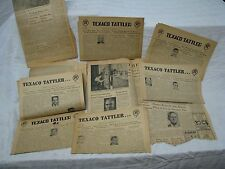 Lot of 10 vintage 1958-59 Texaco EMPLOYEEnewsletters and articles from Beacon NY