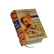 ew Collectible hardcover Miniature Book 428p Jose Marti Ideario,  Cuba easy read