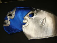 "ADULT 2 MEXICAN HEROS ""SANTO-BLUE DEMON"" WRESTLING MASKS foamy adulto size"