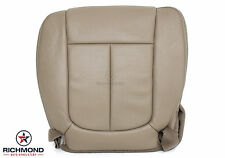 2011-2014 Ford F150 Lariat -Driver Side Bottom PERFORATED Leather Seat Cover Tan