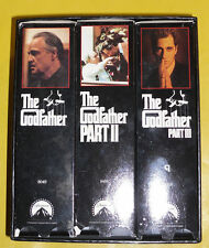 The Godfather Six Classic Videos 1991 Nice Used VHS Video Set Great Set See!