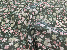 """Green """"Blossoms"""" Summer Floral Printed 100% Cotton LAWN/VOILE Fabric"""