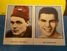 MAX SCHMELING SWEDISH REKORD MAGAZINE BOXING CARD GERMANY PER-OLOF BROGREN UNCUT