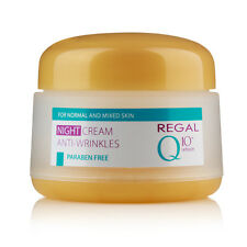 Crema de noche antiarrugas para piel normal y mixta + Refresh, Regal Q10+