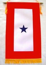 One Blue Star Service Banner Window Flag US Military Mom Parent Patriotic Gift