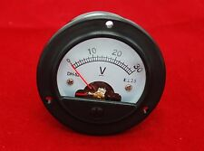 DC 30V Small round  Analog Voltmeter Analogue Voltage panel meter DH52 0-30V