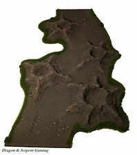 Cratered Rural Winding Dirt Roads 15mm - 28mm Wargames Scenery FoW Bolt Action
