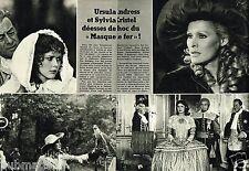 Coupure de Presse Clipping 1976 (2 pages) Sylvia Kristel et Ursula Andress