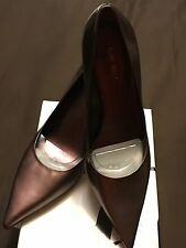 Nine West Metallic Medium Pink/Light Burgundy Leather Pumps Size 12 (Brand New)