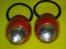 Bullet turn signal compleate with clear lens,seals and bulb holder