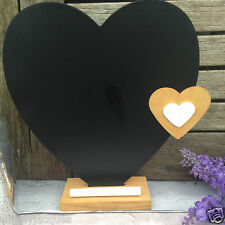 Wooden Standing Heart Chalkboard / Blackboard,with Chalk Ledge,Kitchen,Wedding.
