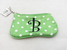 Mainstreet Collection - Small Green Fabric Money Pouch - ID Holder - Letter B