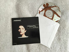 MADONNA - I'LL REMEMBER/SECRET GARDEN (1994) USA 2 TRK CD SINGLE IN CARD SLEEVE