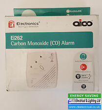 AICO Ei262 RADIOLINK CARBON MONOXIDE ALARM MAINS & LITHIUM BATTERY DATED 2026