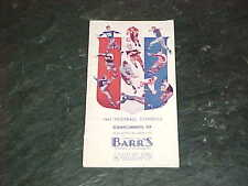 1941 NCAA College Football Schedule Pamphlet
