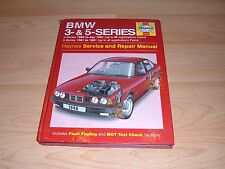 Haynes Workshop Manual 1948 BMW 3 Series 1983-1991 5 Series 1981-1993 Petrol