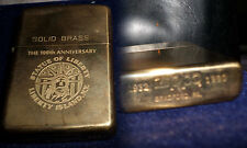 zippo lighter vintage 1990 solid brass statue of liberty