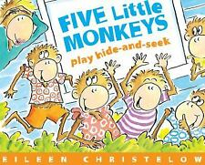 FIVE LITTLE MONKEYS Play Hide-and-Seek (Brand New Paperback) Eileen Christelow