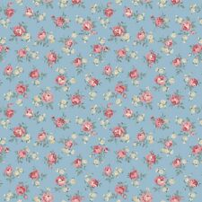 coupon de tissu patchwork shabby Quilgate Mary rose petites roses 45x55cm