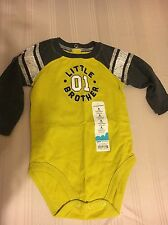 Boys Jumping Bean Little Brother Bodysuit Size 6 Months NWT