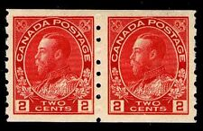 CANADA #127 .02c REGULAR COIL PAIR OF 1912-24 - OGXLH - VF/XF - $70.00 (E#9649)