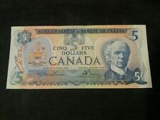 1979 $ 5 DOLLAR CANADA BILL NOTE (RARE) EXCELLENT CONDITION