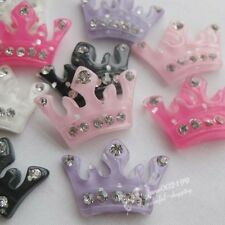 20pcs Resin Crown Flatback Button Scrapbooking DIY Craft appliques JOB086