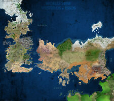 TV POSTER Game of Thrones Map Westeros 24x21 Poster