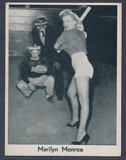 "1950's Dutch Filmphoto-Svc Marilyn Monroe ""baseball card"" - RARE - Unique? (B&B)"