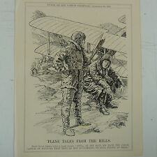 "7x10"" punch cartoon 1922 PLANE TALES FROM THE HILLS india / aviation"