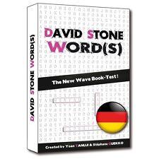 David Stone Words German Edition Mentalism Magic Tricks Book Test Wort Suschpiel