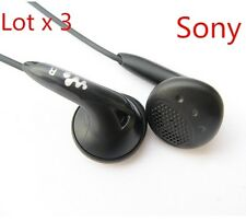 3X Original SONY MDR-E808LP Headphones Earphone Earbud for Apple iPod MP3 BLK