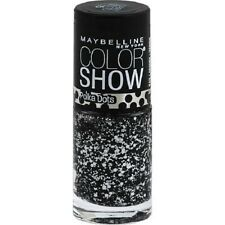 Maybelline Color Show Nail Polish Polka Dots #75 Clearly Spotted - Black+White