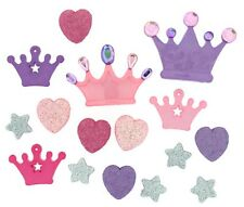 Jesse James Buttons - Dress It Up - Glam Princess ~ CROWNS - HEARTS - Sewing