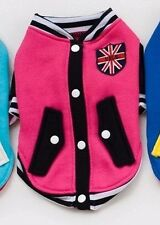 UK Boy Girl Male Female Small Dog Pet Costume Coat Jacket Outfit for Puppies VJ