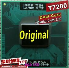 Free Shipping For Intel Cpu Laptop Core 2 Duo T7200 Cpu 4M Socket 479 Cache/ 649