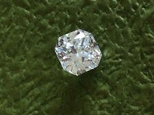 2 PCS - 0.50  Carat Russian Sim Diamond CUSHION CUT White 4 mm x 4 mm WHITE