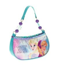 Kids Disney FROZEN Elsa Anna PURSE Satin Handbag Casual Dress Shoulder Bag GIFT