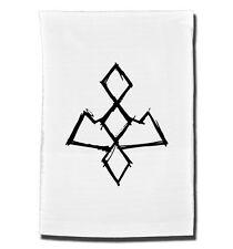 OWL CAVE Symbol tea towel. Inspired by the cult TV series Twin Peaks