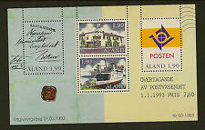 ALAND : 1993 Postal Autonomy Miniature Sheet SG MS65 unmounted mint