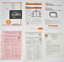 10PC Vintage Jorgenson Pony  CLAMP CATALOG + PRICE LIST + FLYER  RR704