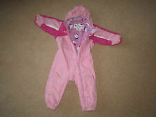 GIRLS COLUMBIA SNOW SKI SUIT FULLY FLEECE LINED AGE 24 MONTHS GREAT CONDITION