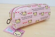 San-X Rilakkuma - Korilakkuma Pencil Case (Pink) Free Registered Shipping