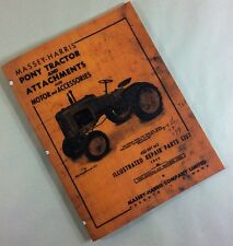 MASSEY-HARRIS PONY TRACTOR & ATTACHMENTS ILLUSTRATED REPAIR PARTS LIST MANUAL